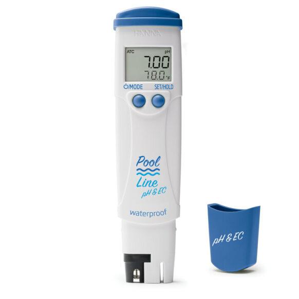 Tester pH, zout & temperatuur HI981304