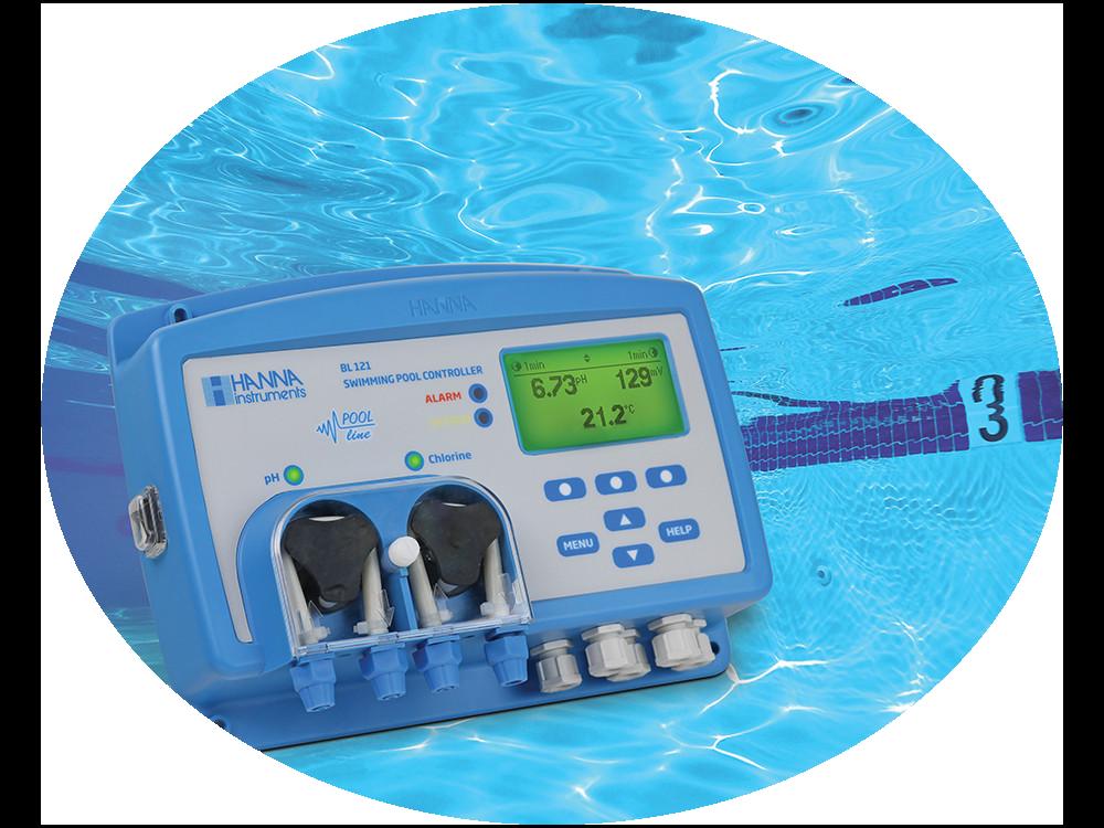 Meetapparatuur zwembad